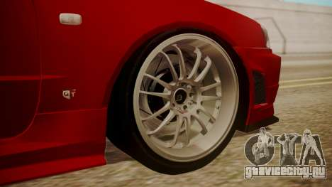 Nissan Skyline R34 FnF 4 v1.1 для GTA San Andreas вид сзади слева