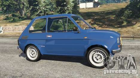 Fiat 126p v1.1 для GTA 5 вид слева