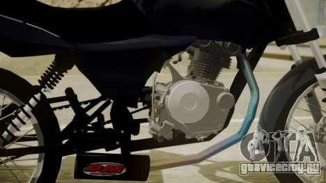 Honda Titan CG150 Stunt для GTA San Andreas вид сзади слева
