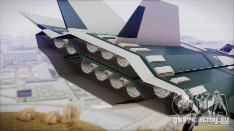 Chuckup BlackBird для GTA San Andreas вид сзади слева