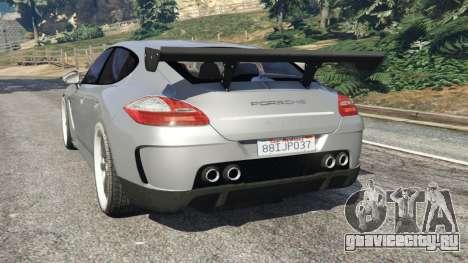 Porsche Panamera Turbo 2010 для GTA 5 вид сзади слева