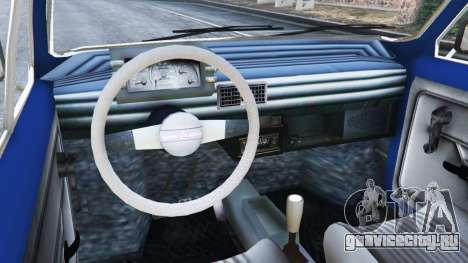 Fiat 126p v1.1 для GTA 5 вид сзади справа