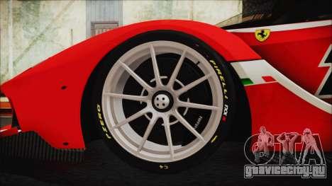 Ferrari FXX K 2016 v1.1 [HQ] для GTA San Andreas вид сзади слева