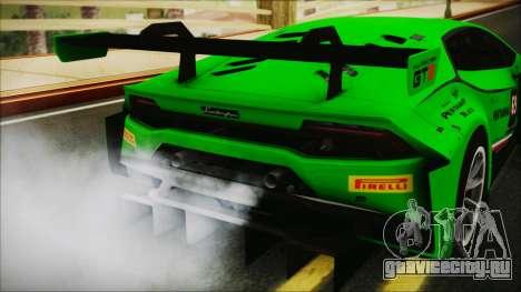 Lamborghini Huracan 610-4 GT3 2015 для GTA San Andreas вид сзади