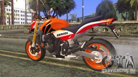 Honda Hornet Repsol 2010 для GTA San Andreas вид слева