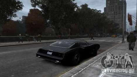 Classic Muscle Phoenix IV для GTA 4 вид изнутри