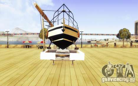 GTA V Big Boat Trailer для GTA San Andreas вид справа