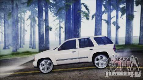 Chevrolet Triblazer для GTA San Andreas вид сзади слева