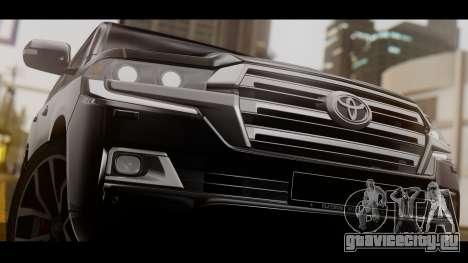 Toyota Land Cruiser 2016 для GTA San Andreas вид сзади слева