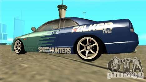Nissan Skyline R33 Drift Falken для GTA San Andreas вид слева