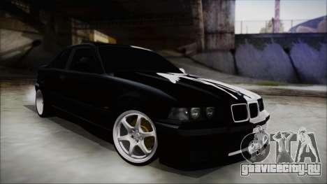 BMW M3 E36 Good and Evil для GTA San Andreas вид сзади слева