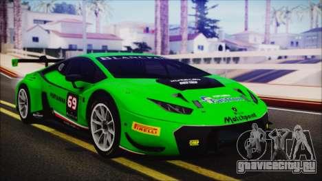 Lamborghini Huracan 610-4 GT3 2015 для GTA San Andreas