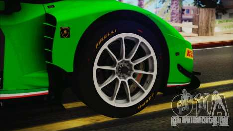Lamborghini Huracan 610-4 GT3 2015 для GTA San Andreas вид сзади слева