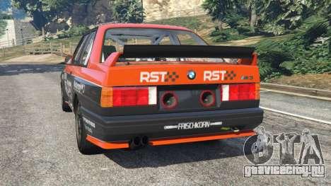 BMW M3 (E30) 1991 [RST] v1.2 для GTA 5 вид сзади слева