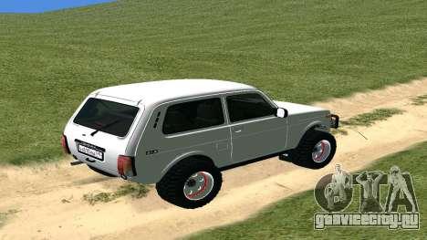 Lada Urban OFF ROAD для GTA San Andreas вид справа