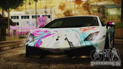 Lamborghini Gallardo LP570-4 2015 Miku Racing 4K для GTA San Andreas