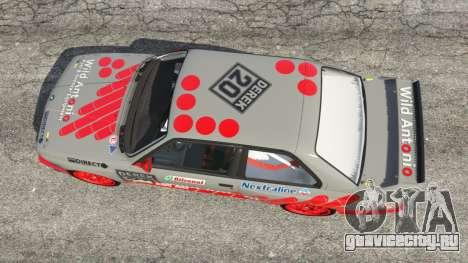 BMW M3 (E30) 1991 [Wild Autonio] v1.2 для GTA 5 вид сзади