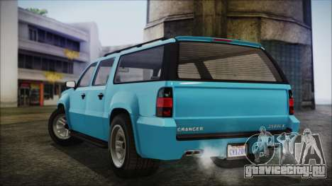 GTA 5 Declasse Granger Civilian для GTA San Andreas вид сзади слева
