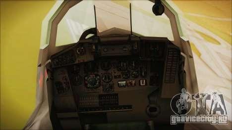 Mikoyan-Gurevich MIG-29A Russian Air Force для GTA San Andreas вид справа