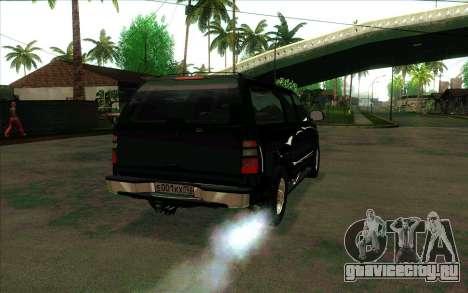 Chevrolet Suburban ФСБ России для GTA San Andreas вид справа