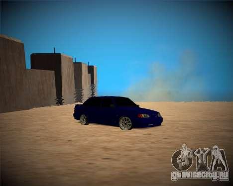 Ваз-2115 для GTA San Andreas вид изнутри