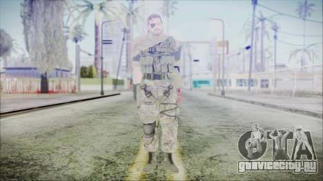 MGSV Phantom Pain Snake Scarf Woodland для GTA San Andreas второй скриншот