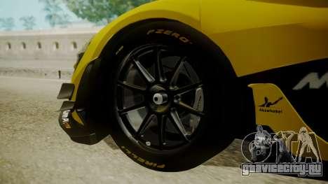 McLaren P1 GTR 2015 Yellow-Green Livery для GTA San Andreas вид сзади слева