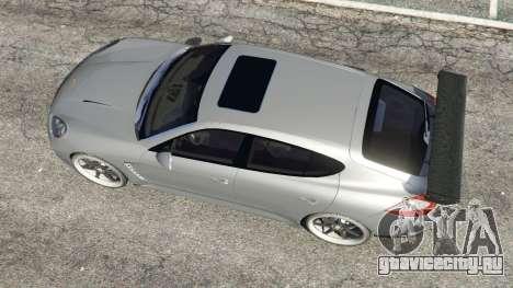 Porsche Panamera Turbo 2010 для GTA 5 вид сзади