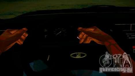 ВАЗ 2107 Light Tuning для GTA San Andreas вид изнутри