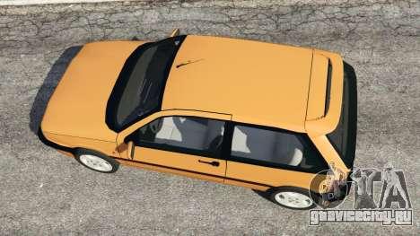Fiat Tipo для GTA 5 вид сзади
