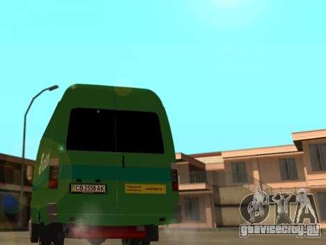 ГАЗель 2705 ПриватБанк v2 для GTA San Andreas вид сзади слева