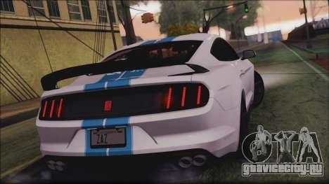 Ford Mustang Shelby GT350R 2016 для GTA San Andreas вид сбоку