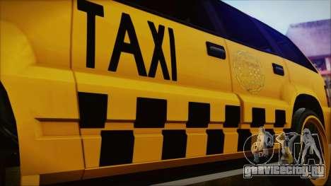 Albany Cavalcade Taxi (Hotwheel Cast Style) для GTA San Andreas вид справа