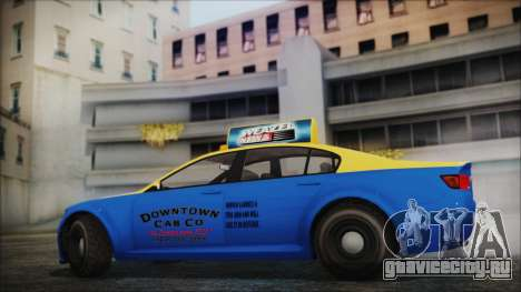 Cheval Fugitive Downtown Cab Co. Taxi для GTA San Andreas вид сзади слева
