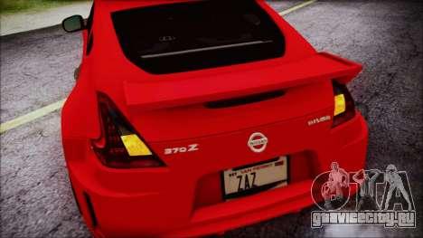 Nissan 370Z Nismo 2010 Angel Beats Itasha для GTA San Andreas салон