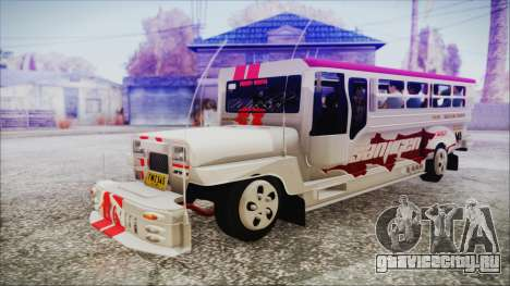 Hataw Motor Works Jeepney для GTA San Andreas
