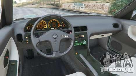 Nissan 240SX для GTA 5 вид сзади справа