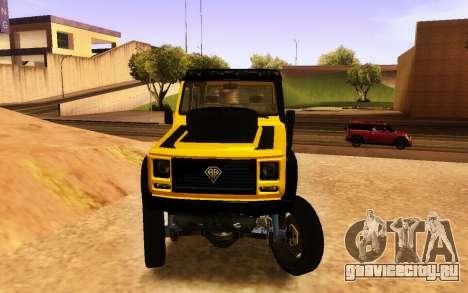 Благодетель Dubsta 6х6 пользовательские настройк для GTA San Andreas вид справа