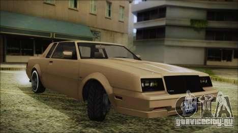 GTA 5 Willard Faction Custom Bobble Version для GTA San Andreas вид сзади слева