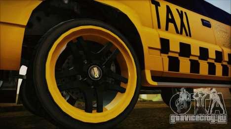 Albany Cavalcade Taxi (Hotwheel Cast Style) для GTA San Andreas вид сзади слева