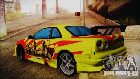 Nissan Skyline Street Racing Syndicate для GTA San Andreas вид слева