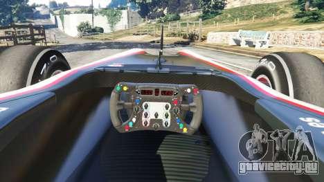 Hispania F110 (HRT F110) v1.1 для GTA 5 вид сзади справа