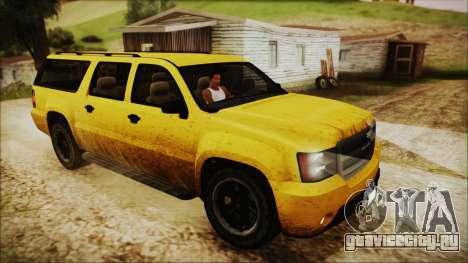 GTA 5 Declasse Granger IVF для GTA San Andreas вид снизу