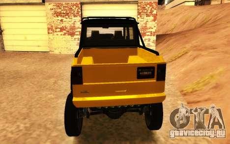 Благодетель Dubsta 6х6 пользовательские настройк для GTA San Andreas вид сзади слева