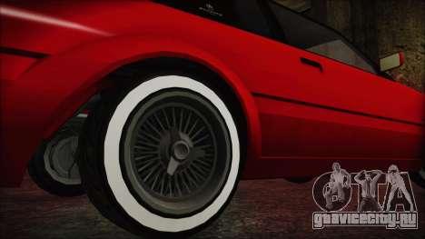GTA 5 Willard Faction Custom without Extra IVF для GTA San Andreas вид сзади слева