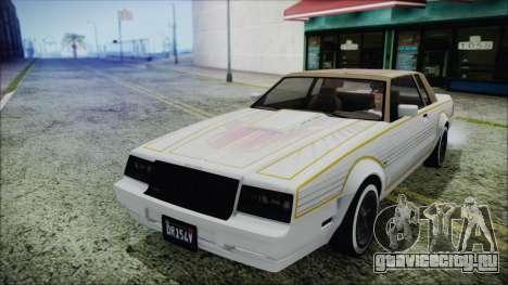 GTA 5 Willard Faction Custom Bobble Version для GTA San Andreas вид сзади