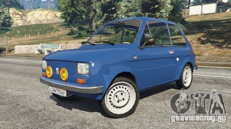 Fiat 126p v1.1 для GTA 5 вид справа
