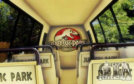 Jurassic Park Tour Bus для GTA San Andreas вид справа