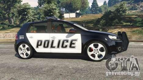Volkswagen Golf Mk6 Police для GTA 5 вид слева