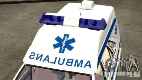 Daewoo FSO Polonez 1999 - Скорая помощь для GTA 4 вид сверху